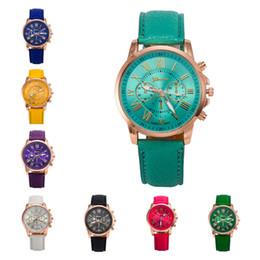 Descuento relojes de pulsera piezas Los relojes más nuevos de tres relojes Ginebra Doble literalmente ver relojes de pulsera de cuarzo, relojes deportivos 6 piezas mucho 11 colores DFMPH6