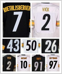 Wholesale 7 Ben Roethlisberger Troy Polamalu26 Le Veon Bell Heath Miller Antonio Brown Jerseys size small S XL top quality