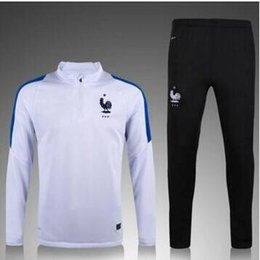 Wholesale French training suit French football shirt Euro Cup maillot DE foot French national football training wear long sleeved tracksui
