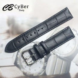 Cbcyber New watch bracelet belt black watchbands genuine leather strap watch band 18mm 20mm 22mm watch accessories wristband