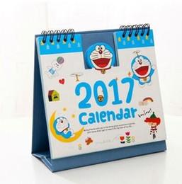 Organizadores de papel de escritorio en Línea-Nuevos productos calientes Año 2017 personajes de dibujos animados lindo del papel de escritorio 3D Calendario de doble Planner Planificador diario Tabla anual del orden del día Organizador