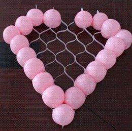 Globos del corazón en Línea-globoflexia en forma de corazón importada nueva producido 60cm de malla se pueden colocar en el 38 al por mayor red en forma de corazón
