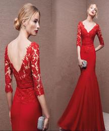 Wholesale Red Celebrity Dresses Online Beautiful Elegant Formal Wear Graceful Evening Dresses New Arrival Vestimenta Formal
