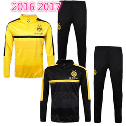 Wholesale 3A best quality football uniforms chandal Dortmund sportswear training suit pants sportswear best quality