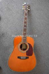 Wholesale In Stock Cheap Price D Classic Dreadnought Solid spruce Top quot acoustic guitar Amber Color Fishman EQ