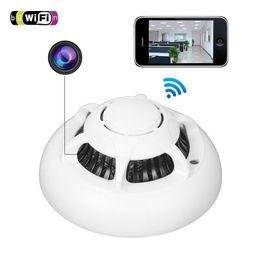 Wholesale Surveillance Cameras Smoke Detectors - Hot Selling Smoke Detector UFO WIFI IP Camera HD 720P Spy Hidden Camera Wireless Video Recorder P2P Home Surveillance Cameras For Smatphones