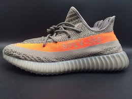 Wholesale Drop Shopping Origianl Quality Mens Sply Kanye West Shoes Kanye West Boost Sports Sneakers With Box Grey Color Hot sell