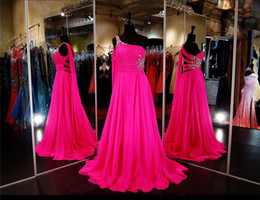 Long Prom Dresses One Shoulder Chiffon Pleat And Hand Beading Floor Length Backless Evening Dresses Vestidos