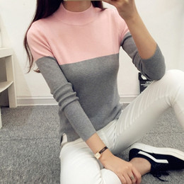 Wholesale 2016 High Elastic Turtleneck Women Sweaters and Pullovers Female Spring Autumn Tricot Knitted Sweater Jumper Pull Femme