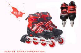Wholesale Authentic dynamic eight full flash full suit children skates adjustable roller skates skates skates men and women
