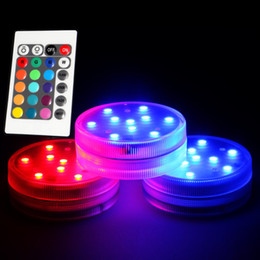 3AAA Battery Operated IR Remote Controlled 10 Multicolors SMD LED Vase Light,Submersible Led Light,Waterproof Floralyte Light