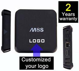 Wholesale 10PCS Custom Made M8S years warrant Google Smart Android IPTV TV box boxes KODI Blackbox Amlogic S805 S812 K Bluetooth