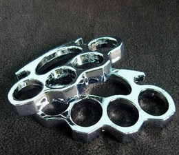 Wholesale new GILDED THICK THICK mm STEEL BRASS KNUCKLE DUSTER color Gold plating silver black