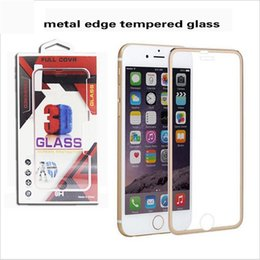 Wholesale Metal EdgeTempered Glass With Oil Surface Screen Protector Film D H With Exclusive Package For Iphone Plus