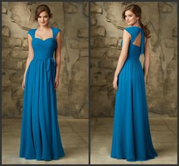 Wholesale A Line Peacock Bridesmaids Dresses OT Sweetheart Long Formal Gowns Tie Sash Maid Of Honor Dress Removable Luxe Chiffon Coverlet