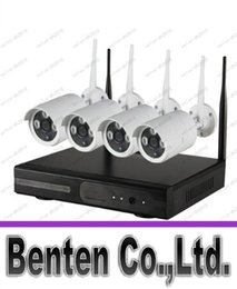 Caméra pour la sécurité cctv en Ligne-4ch Hd Wireless Nvr Kits 720p Etanche Wifi Ip Caméra Ballet Soutien P2p Plug and Play Système de caméra CCTV De Hdcctvsystem LLFA