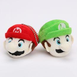 6cm Super Mario Bros Toys Luigi Mario Plush Toy Soft Stuffed Doll Super Mario Key Pendant
