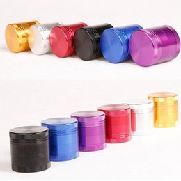 Aluminium Alloy Mental Herb Grinder 4 parts 40mm Gold Silver Red Purple Blue Black colors Grinders available for Tobacco Glass Pipes