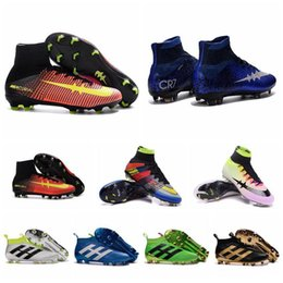 Kids Soccer Shoes Youth ACE 16 Soccer Cleats PureControl Mens Soccer Boots Women Mercurial CR7 Superfly FG AG Cheap Boys Football Boots New
