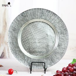 Holy Manufacturers Wholesale Cheap Fancy Restaurant Catering Sun Shine Glass Decoration Charger Plate for kitchen use