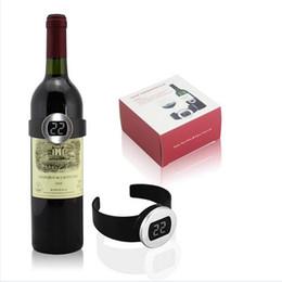 Nouveau et de haute qualité vin de température électronique vin étiquette vin thermomètre électronique de mesure de la température du vin de boisson à partir de etiquette électronique fabricateur