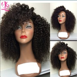 HOT popular! Beauty Free shipping heat resistant short kinky curly synthetic lace front wig nature black wig glueless curly wig for woman