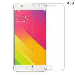Promotion oppo chinois Oppo A59 HD Clear Protecteur d'écran en verre trempé 2.5D Protecteur d'écran Edge pour les marques chinoises pour Iphone pour Samsung galaxie - YH0147