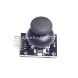 Wholesale 10pcs For Arduino Biaxial buttons rocker PS2 Game rocker lever sensor Joystick joystick usb sensor audi