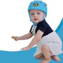 Wholesale Baby Toddler Safety Helmet Headguard Cap Adjustable Hat No Bumps Kids Walk Learning Helmets