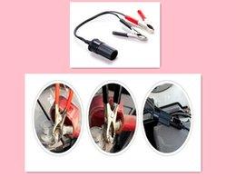 Wholesale Small battery terminal pore turn cigarette lighter socket Alligator clip wire Automotive air compressor power converterCar Cigarette Lighte