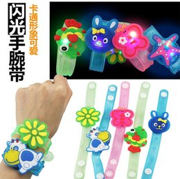 Wholesale Educational toys Gifts for children Cartoon flash wrist band Novelty toys with OPP bag packaging Glowing toys