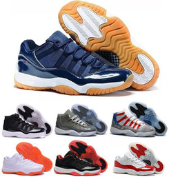 Wholesale 2016 ai retro Low Navy Gum Blue space jam white red Varsity Red Bred Georgetown Basketball Shoes Women Men Sports Sneakers