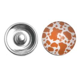 2014 NEW 12PCs Press Buttons Fit DIY Snap Bracelets Leopard Print Mixed 18mm HOT sale New Arrival M67324