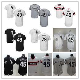 Wholesale 2016 New Cheap MLB White Sox Michael Jordan Melky Cabrera Chris Sale Jose Abreu Black Throwback Baseball Jersey Embroidery