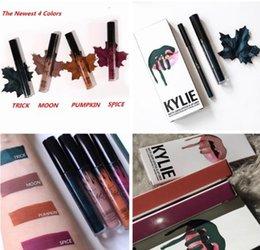 Wholesale Hot sale KYLIE JENNER lip kit Spice Trick Moon Pumpkin Kylie Matte Pasty Lipstick Lip Liner