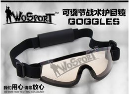 Wholesale adjustable CS special warfare defense goggles riding goggles wind glasses unisex Desert Storm SunGlasses Tactical Hunting Goggles Outdoor Sp