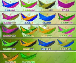 Wholesale Outdoor Camping Hammock Parachute Double Person Hammock Mixed Color Safe Outdoor Parachute X cm Double Person Hammock Allowing KG
