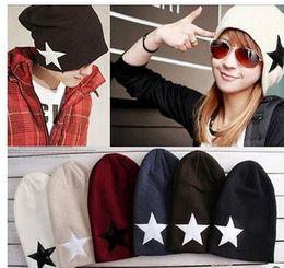 Compra Online Sombreros casual para los hombres-Accesorios de moda 2016 hombres adultos mujeres casquillo Otoño y el invierno estrella suelta no mainstream tapa de la cabeza casquillo de punto casquillo sombrero sombrero casquillo