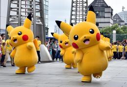 wholesale Pikachu Mascot Costume carnival anime movie character Classic cartoon Adult Character Fancy Dress Cartoon Suit