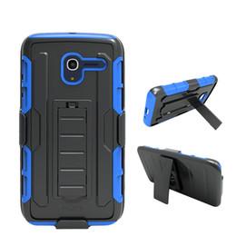 Clips de bolsas en venta-Para Samsung Galaxy J7 2015 J5 J3 J2 J1 Ace Protector Defensor del robot combinado híbrido de la caja del clip correa de la pistolera con pata de cabra OppBag