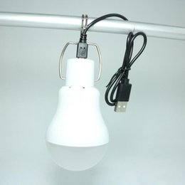 Portable USB LED Bulb Camping Outdoors Light Super Bright 8W 60pcs SMD LED IP65 USB Charging 6500K CE RoHS