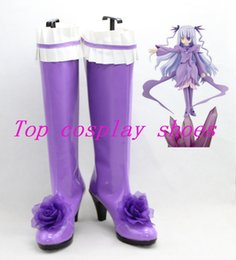 Wholesale-Rozen Maiden Barasuishou Rose Crystal Rose quartz Anime Cosplay Boots Shoes #RM002 ver 2