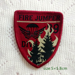 Forest Service Smoke Jumper Fire Sew On Patch Shirt Trousers Vest Coat Skirt Bag Kids Gift Baby Decoration