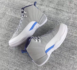 retro 12 Basketball Shoes Sneakers Taxi Playoffs Gamma Blue Grey Sports shoes Sneakers Size:US 7-12