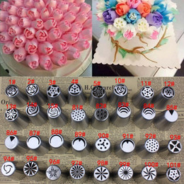 Wholesale Multi Russian Tulip Rose Stainless Steel Icing Piping Nozzles Tips Baking Tools E00260 CAD
