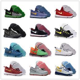Kd chaussures de vente mens à vendre-30 couleurs pour Top qualité KD 9 Mens Basketball Shoes Cheap Sale Kevin Durant neakers Taille 40-46 Livraison gratuite