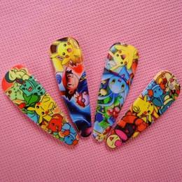 Wholesale pokémon Pikachu Hairpins Baby Hair Clips Hairpins Headwear Clips for Girl Fashion Cartoon Accessory hair pins