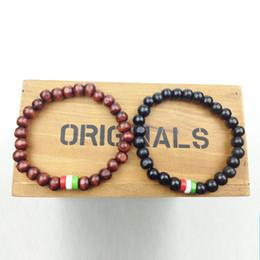 SN0628 Hot Sale flag bracelet custom flag Wood Beads Bracelet Italy Flag Bracelet Man Wood Bracelet