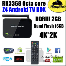 Wholesale Z4 RK3368 Android tv box KODI D K HDMI GB GB OTT octa core fully loaded arabic iptv Smart Box