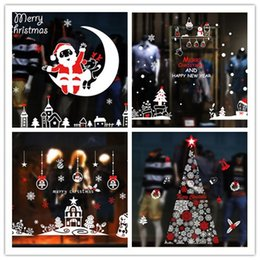 Christmas style window sticker home decoration-removable